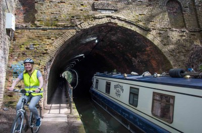 The canal tunnel under Birmingham - Day time.