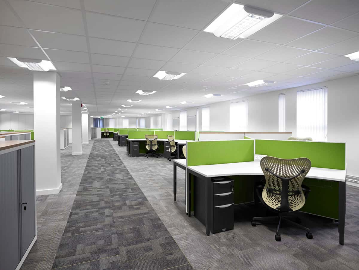 Office interiors architectural photographer Leeds