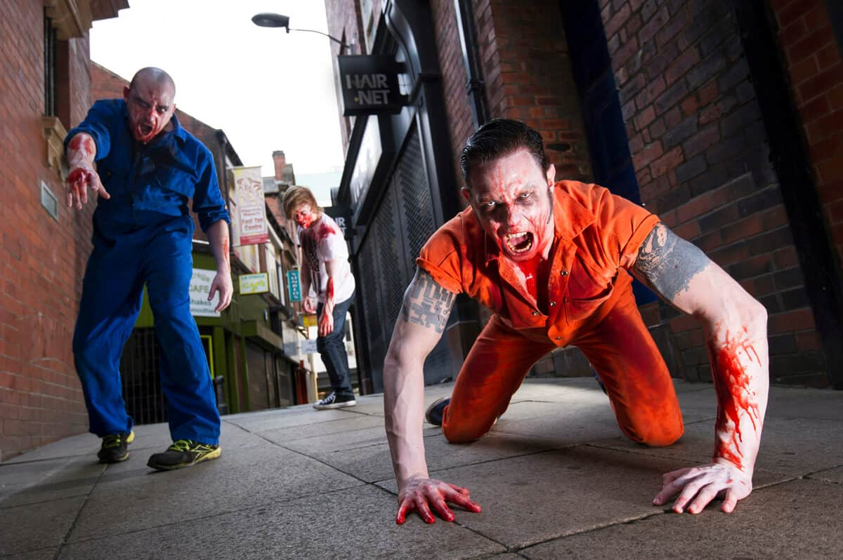 Commercial photography Leeds: High Street zombies!