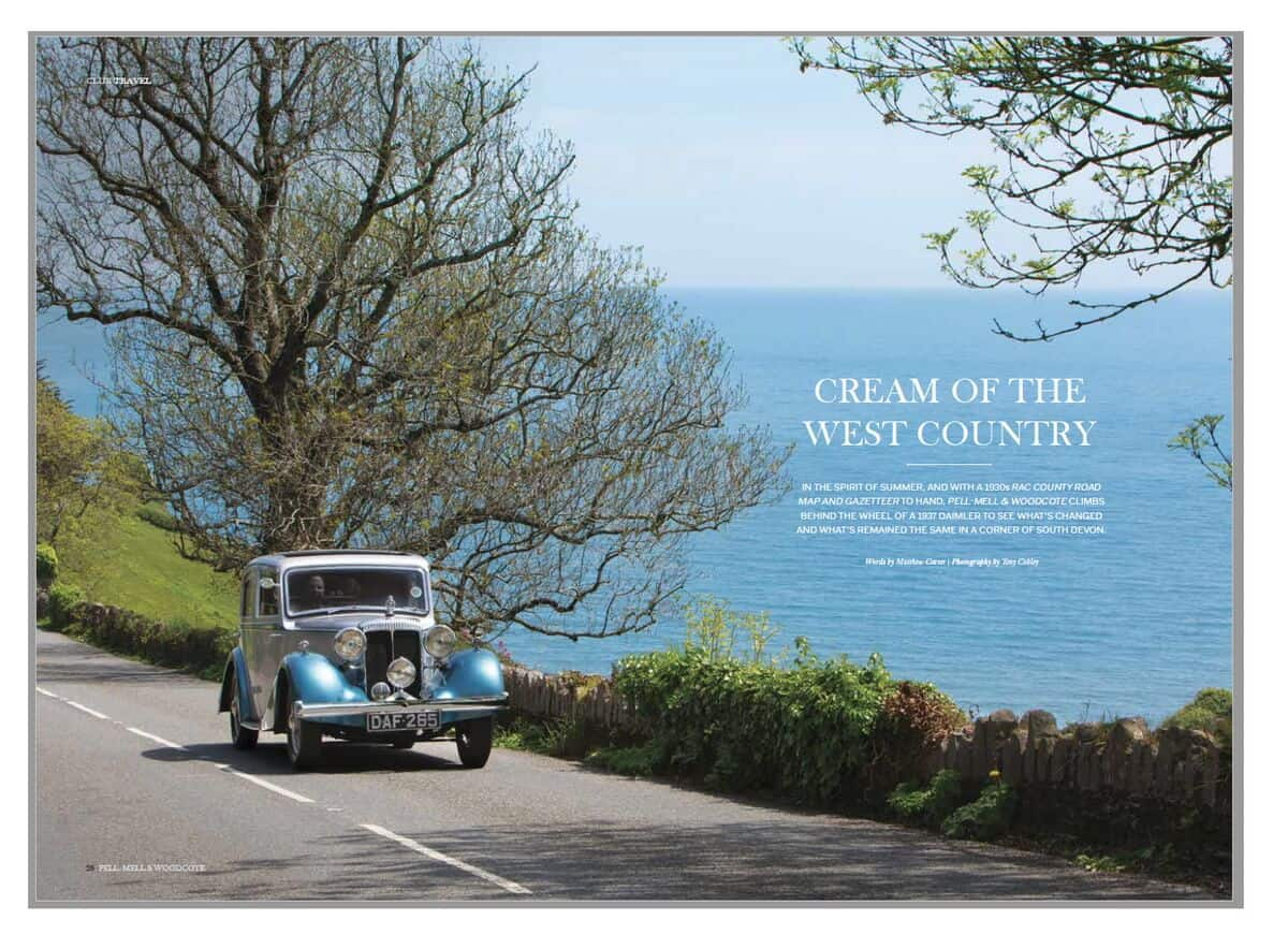 Editorial photography in Devon for the Royal Automobile Club by Commercial Photographers Network member Tony Cobley