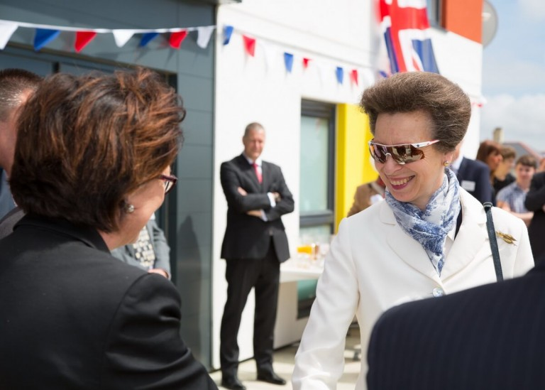 PR photography in Plymouth of a royal visit for a housing company by Commercial Photographers Network member Tony Cobley