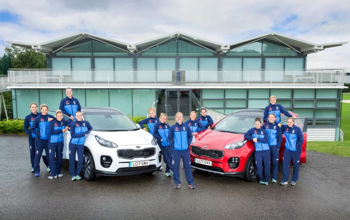 Official Promotional Photography: Women's England Cricket Team 2017, sponsored by Kia