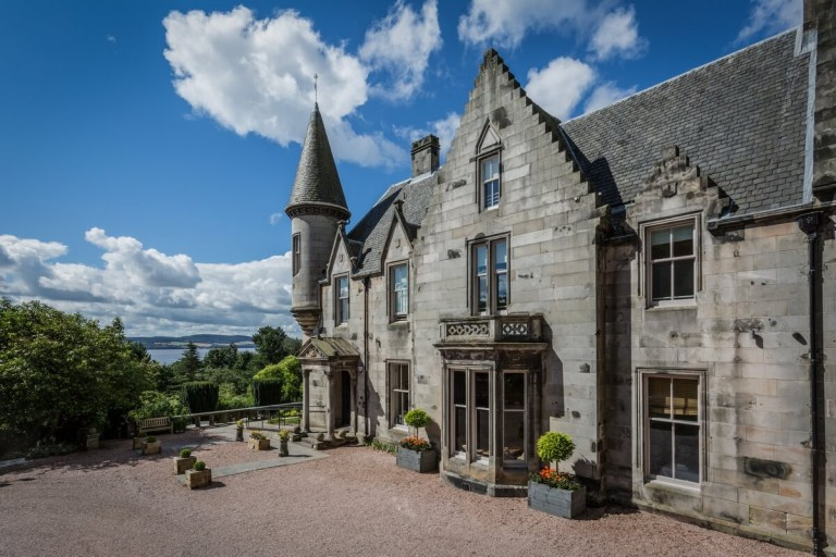 Architectural photography of Taypark House hotel in Dundee by Eddie Phillips