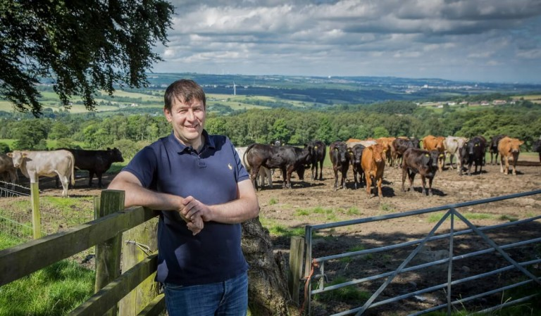 Corporate location portrait for MacDuff Beef by Dundee based photographer Eddie Phillips
