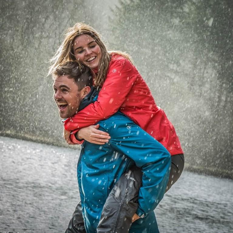 Fashion photography for Sherpa rainwear in Tayside