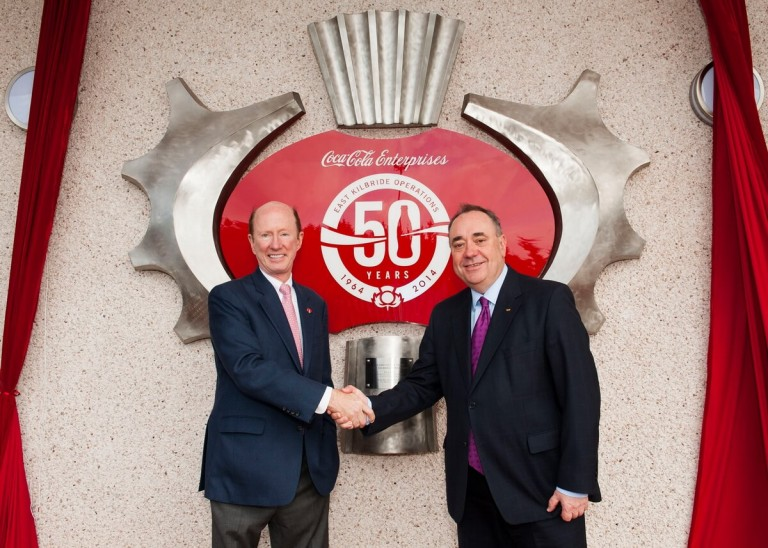 Press and PR Shoot of Alex Salmond at Coco Cola Factory by Glasgow Press and PR Photographer