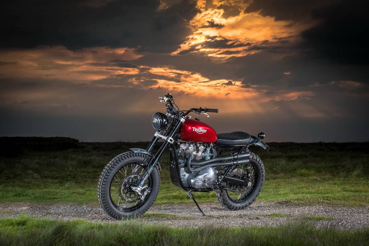 Commercial Photographer on location, Atmospheric, Motorbike Photography, Durham