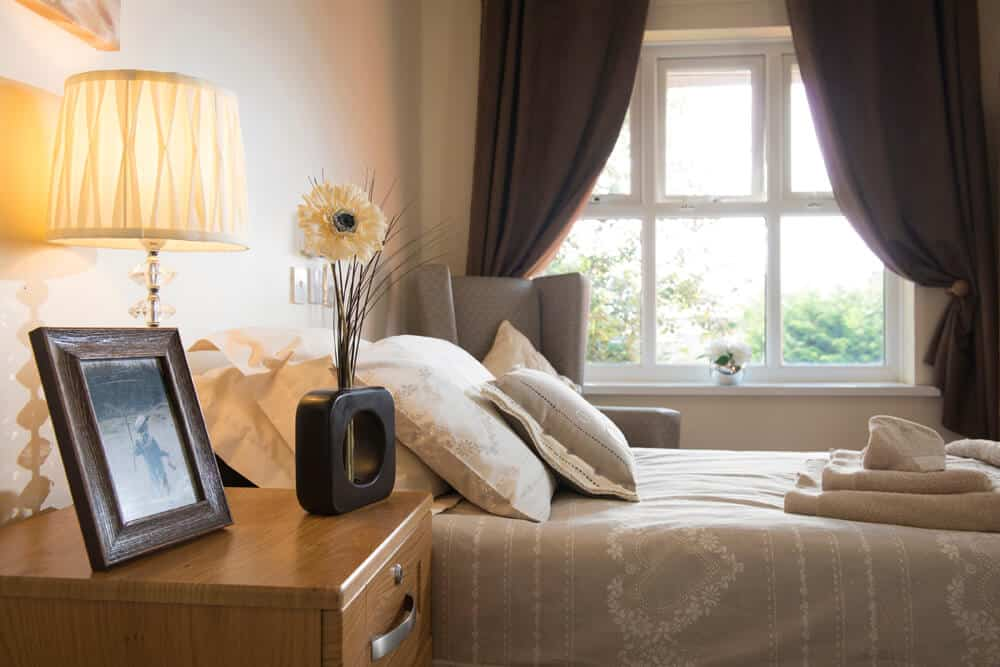 Simple stylish bedroom interior