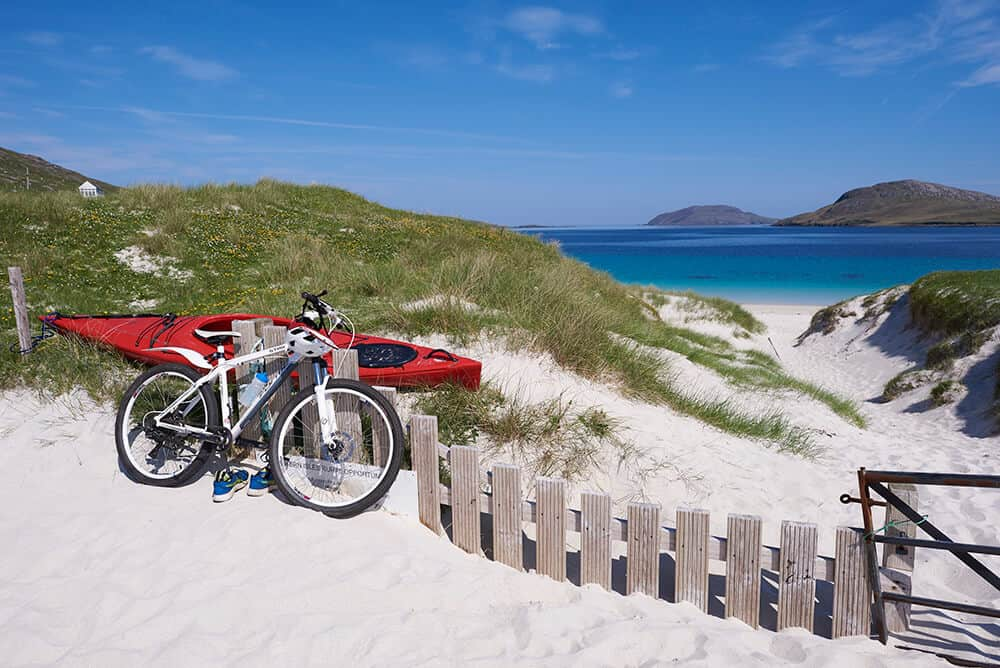 Vatersay beach in the Western Isles