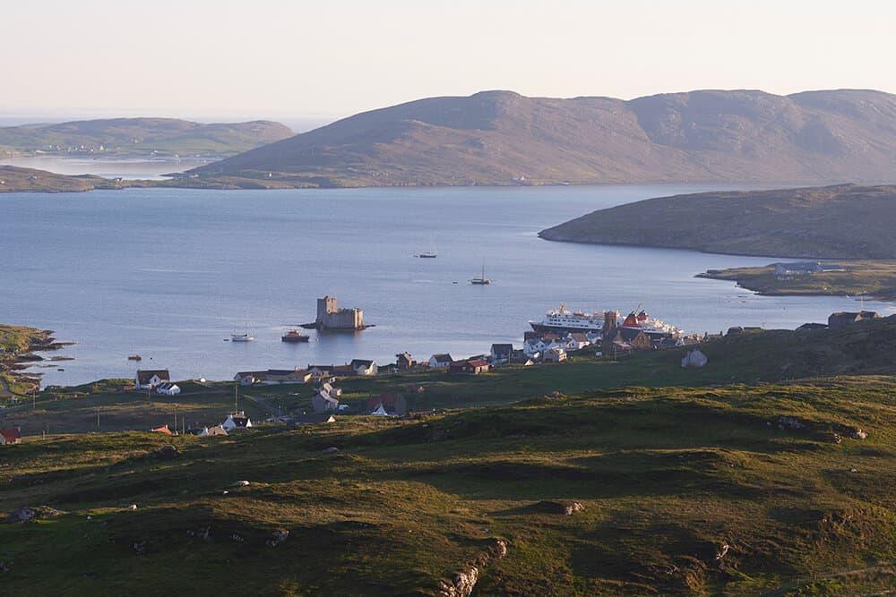 View of Castlebay on Barra